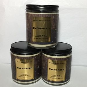 EVERGREEN Single Wick Candles x3